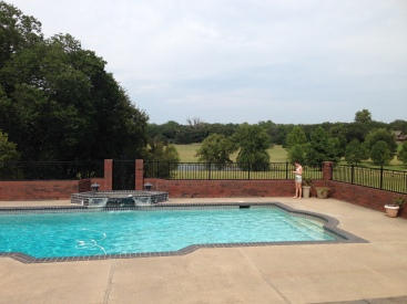 The view from a luxury home in Edmond. A fun afternoon spent with my daughter.