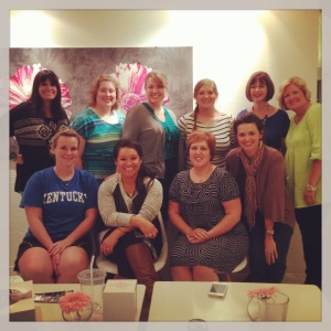 Visiting a book club in Edmond to discuss my YA novel TWIN FALLS written under pen name Lena Brown.