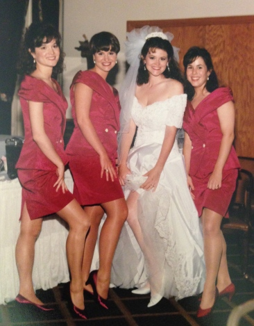 With my Alpha Chi Omega bridesmaids, Amy, Lori and Melissa. Love my sisters.