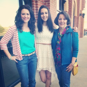 3 generations - my daughter Audrey and MIL Sheryl