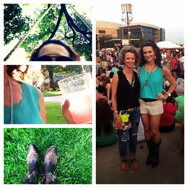 A tree swing, an adult beverage and more country music.