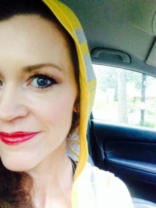 Feeling frisky in the rain this week and ready for an adventure with my yellow hood.