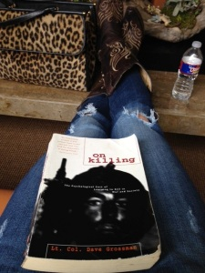 While the painters painted, I read about the psychology of killing in combat. My days are never boring.