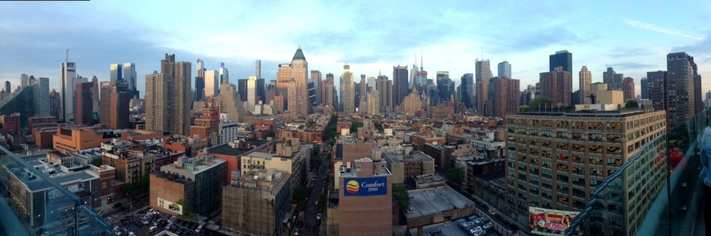 Skyline view at sunset from Ink 48. Gorgeous.
