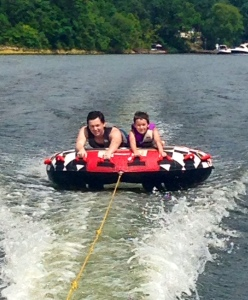 My boys tubing. Loved seeing them try new things.