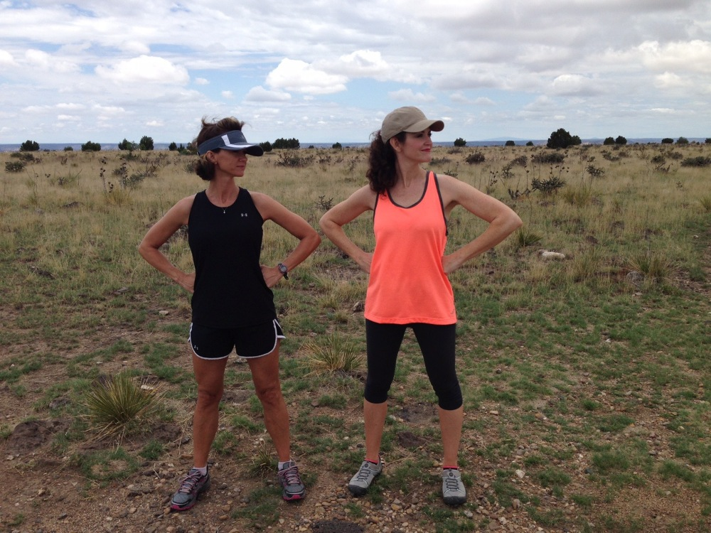 Our Wonder Women pose after reaching the top of Black Mesa.